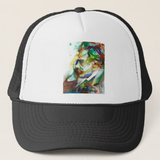 friedrich nietzsche - watercolor portrait.4 trucker hat