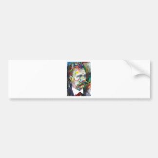 friedrich nietzsche - watercolor portrait bumper sticker