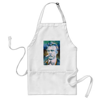 friedrich nietzsche - watercolor portrait standard apron