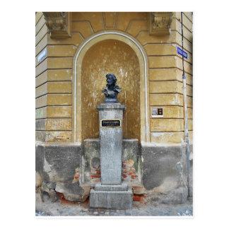 Friedrich Schiller Statue Postcard