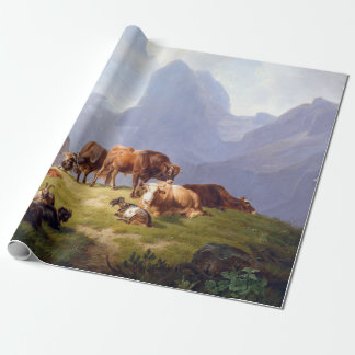 Friedrich Voltz On the Alm Wrapping Paper