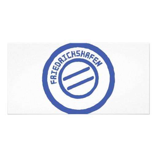 Friedrichshafen post stempel stamp custom photo card