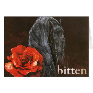 "Frieisian Horse ""Bitten"" Card"