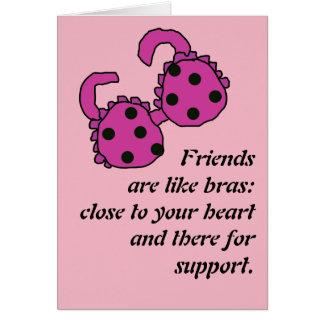 Friend are like Bras Card