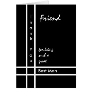 FRIEND - Best Man Wedding Thank You Greeting Card