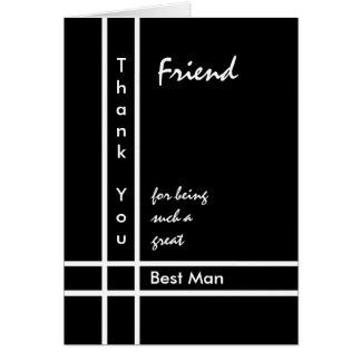 FRIEND - Best Man Wedding Thank You Greeting Card