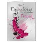 Friend, Birthday Greeting With Female, Card