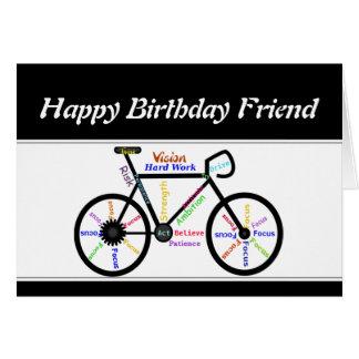 Friend Birthday Motivational Bike Bicycle Cycling Card