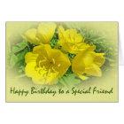 Friend Birthday Yellow Primroses - Sundrops Card