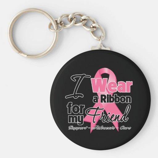 Friend - Breast Cancer Ribbon Keychain