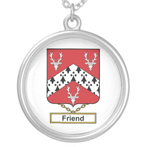 Friend Family Crest Personalized Necklace