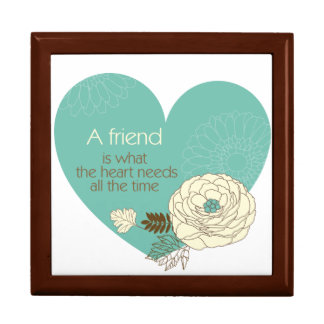 friend is what the heart need a trinket box