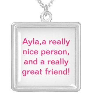 friend square pendant necklace