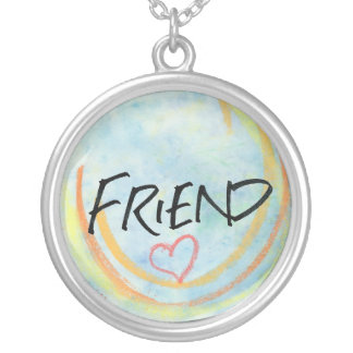 Friend Necklace with a Heart