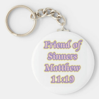 Friend of Sinners Matthew 11:19 Basic Round Button Key Ring