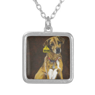 Friend or Food? Square Pendant Necklace