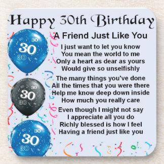 Friend Poem - 30th Birthday Coasters