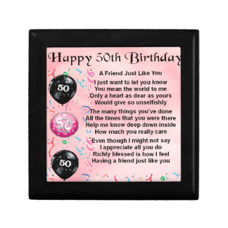 Friend Poem - 50th Birthday Gift Box