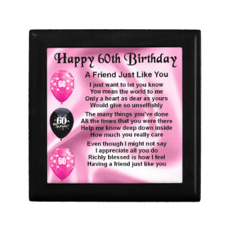Friend poem - 60th Birthday Gift Box