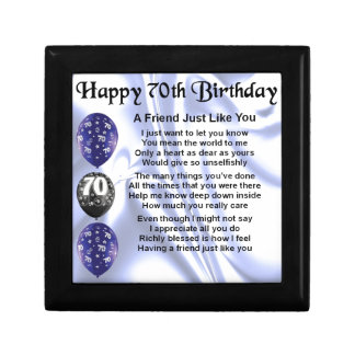 Friend Poem - 70th Birthday Gift Box