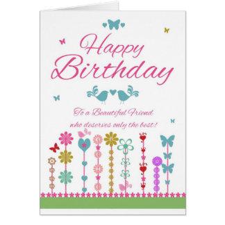 Friend Pretty Birthday Card With Butterflies