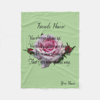 FRIEND QUOTE FLEECE BLANKET