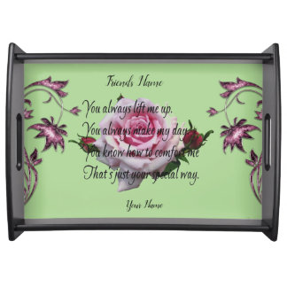 FRIEND QUOTE SERVING TRAY