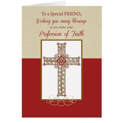Friend, RCIA Blessings on Profession of Faith, Cro Greeting Cards