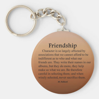Friend Selection Basic Round Button Key Ring