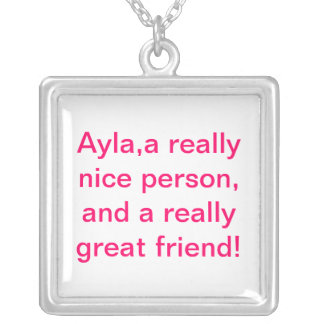 friend square pendant necklace