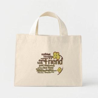 Friend Word Art Bag