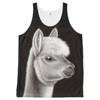 Friendly Alpaca All Over Unisex Tank Top