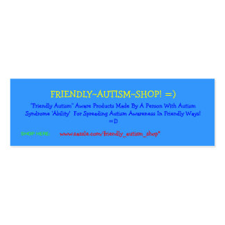 Friendly~Autism~Shop! =) Advertising Cards Business Cards