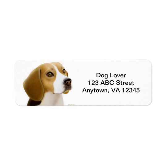 Friendly Beagle Dog Customisable Return Address Label