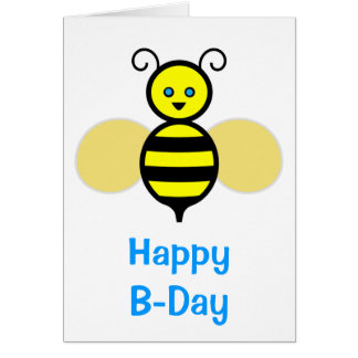 Friendly Bee Birthday Greeting Cards