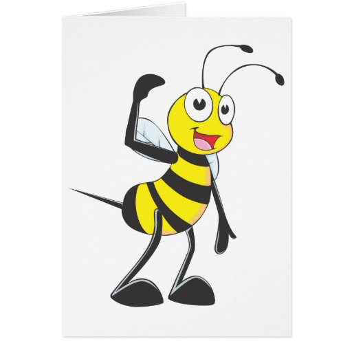 Friendly Bee Inviting You Cards