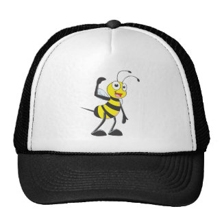 Friendly Bee Inviting You Trucker Hats
