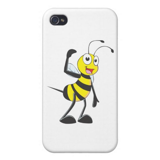 Friendly Bee Inviting You iPhone 4 Cases