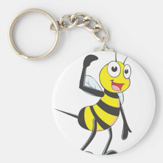 Friendly Bee Inviting You Keychains