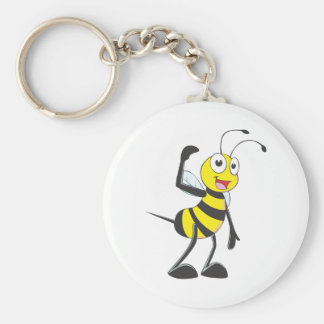 Friendly Bee Inviting You Keychain