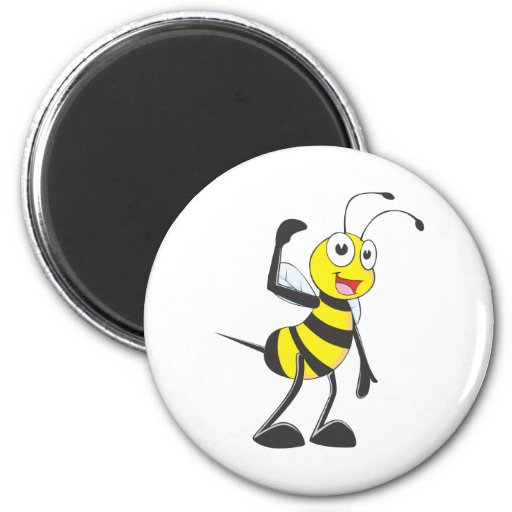 Friendly Bee Inviting You Refrigerator Magnet