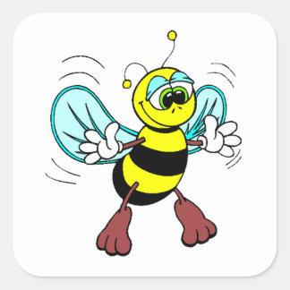 Friendly Bee Square Sticker