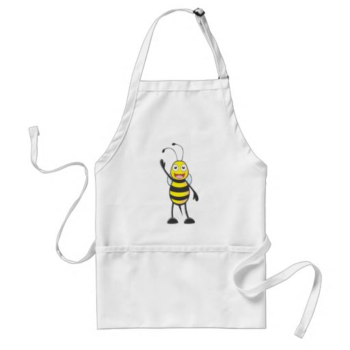 Friendly Bee Waving to You Aprons