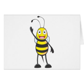 Friendly Bee Waving to You Greeting Card