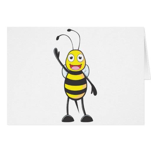 Friendly Bee Waving to You Card