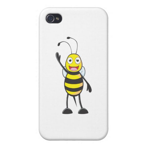 Friendly Bee Waving to You iPhone 4 Covers
