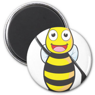 Friendly Bee Waving to You Magnets