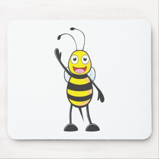 Friendly Bee Waving to You Mousepad