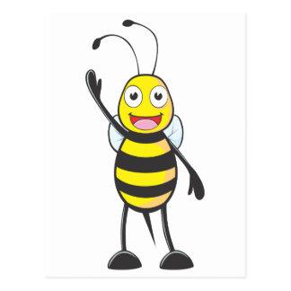 Friendly Bee Waving to You Postcard