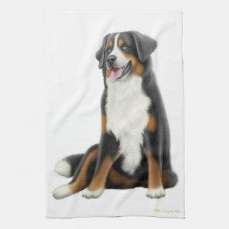 Friendly Bernese Mountain Dog Kitchen Towel